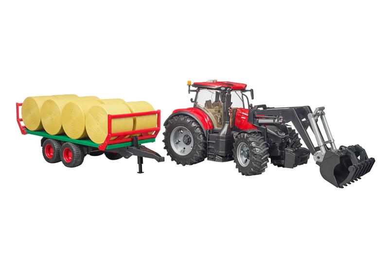 Traktor Case IH Optum 300 CVX med balvagn