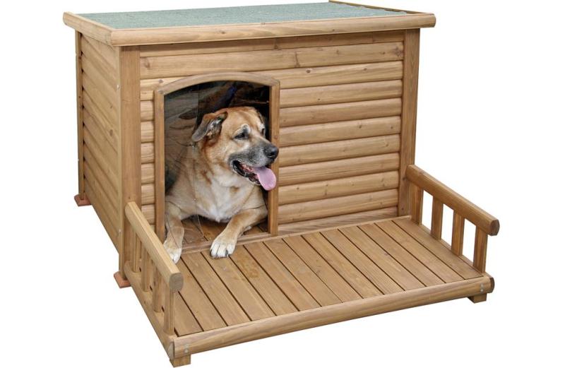 Hundkoja med terrass